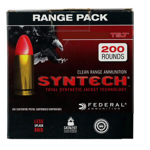 Federal American Eagle Syntech .40 S&W Ammunition 200 Rounds 165 Grain TSJ Bullet 1050fps