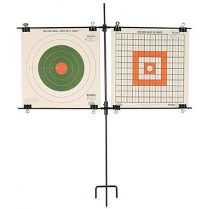 Allen Paper Target Stand with Clips Steel Black 1529
