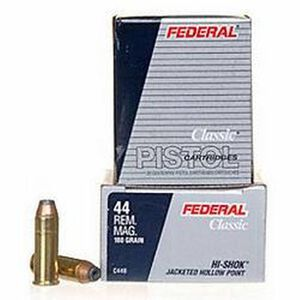 Federal .44 Magnum Ammunition 20 Rounds JHP 180 Grains