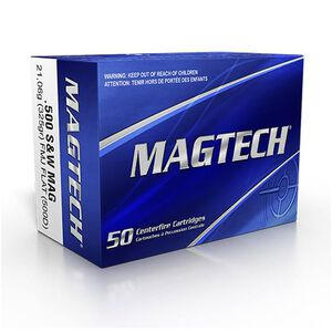 Magtech .500 S&W Ammunition 20 Rounds FMJ - Flat 325 Grains 500D
