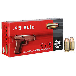 GECO .45 ACP Ammunition 50 Rounds 230 Grain Full Metal Jacketed Hollow Point