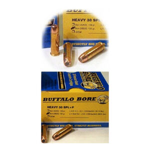 Buffalo Bore .38 Special +P Ammunition 20 Rounds Low Velocity JHP 125 Grains 20B/20