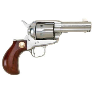 "Cimarron Thunderer Single Action Revolver .45 Long Colt 3.5"" Barrel 6 Rounds Walnut Grip Stainless Finish CA4506"