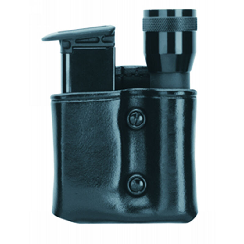 Gould & Goodrich Gold Line Flashlight/Mag Case Combo Right Hand Fits SIG P250/320 Compact 9mm/.40 Leather Black