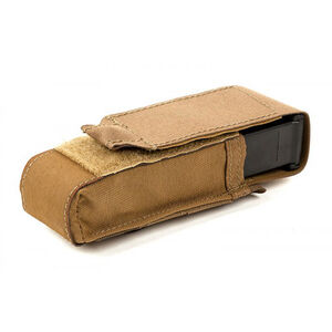Blue Force Gear Single Pistol mag Pouch - Classic style with flap (Also fits lights, multitools) - Coyote Brown HW-M-PISTOL-1-CB