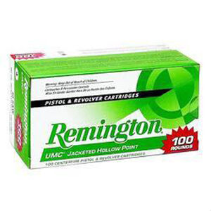 Remington .40 S&W UMC Ammunition 100 Rounds, JHP, 180