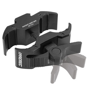 iPROTEC LG Universal Long Gun Mount with Accessory Rail fits Most Shotguns Rifles and Scopes 20mm to 32.5mm Black