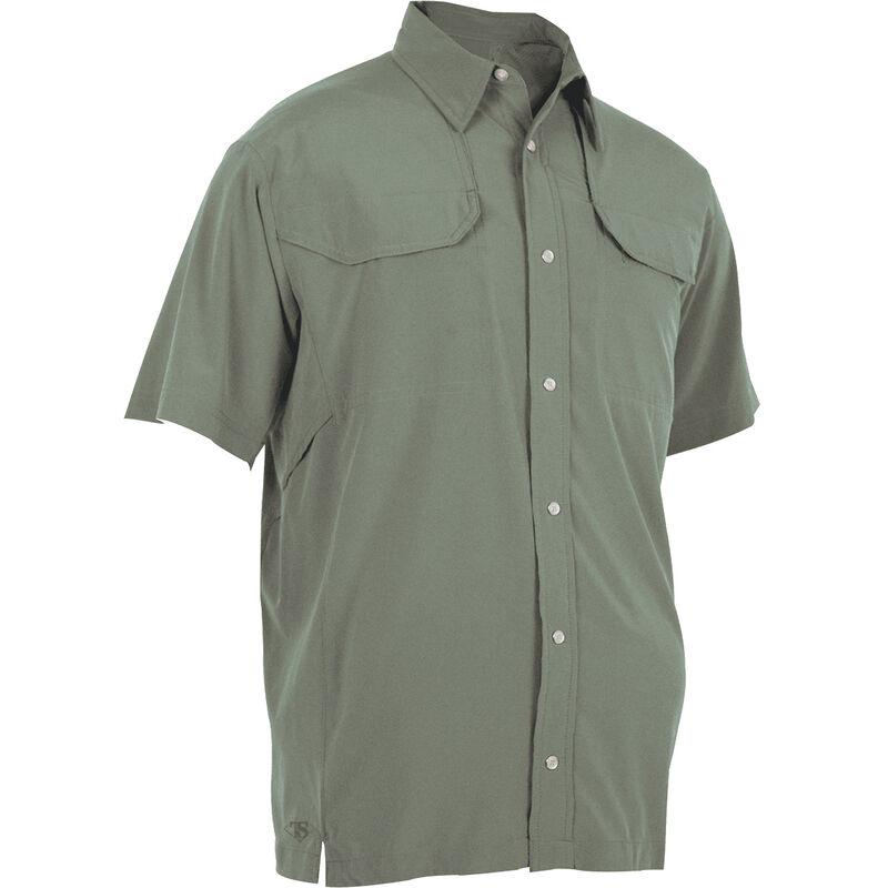 Tru-Spec 24-7 Series Cool Camp Shirt Polyester Spandex Large Sage