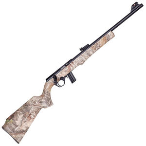 "Rossi RB22 .22 LR Bolt Action Rimfire Rifle 18"" Barrel 10 Rounds Adjustable Fiber Optic Sights Black/True Timber Kanati Camo Finish"
