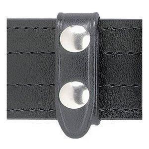 Safariland Model 65 Belt Keeper 4-Pack Two Chrome Snaps Basket Weave Black 65-4-4