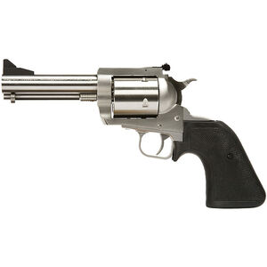 """Magnum Research BFR Single Action Revolver .500 JRH 5.5"""" Barrel 5 Rounds Short Cylinder Model Fixed Front/Rear Adjustable Sight Black Rubber Grip Brushed Stainless Steel Finish"""