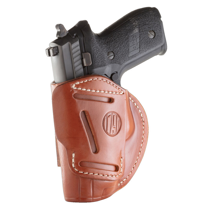 1791 Gunleather 4 Way WH-5 Multi-Fit IWB/OWB Concealment Holster for Full Size/Compact Semi Auto Models Right Hand Draw Leather Classic Brown