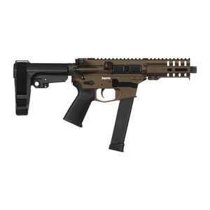 "CMMG Banshee 300 MkG .45 ACP AR-15 Semi Auto Pistol 5"" Barrel 26 Rounds Uses GLOCK Style Magazines RML4 M-LOK Handguard CMMG Micro/CQB RipBrace Midnight Bronze Finish"
