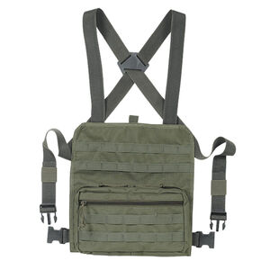 """Voodoo Tactical MOLLE Compatible Admin Chest Rig One Size Fits Most 13""""x12.5""""x2.5"""" MOLLE Webbing Compatible Nylon OD Green"""