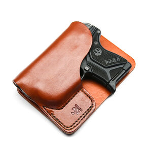 Talon Training Ruger LCP/LCP II Wallet Holster Brown Right Hand Crimson Trace 497 Laser