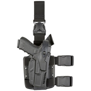 Safariland 7305 Tactical Holster Fits GLOCK 17 with Light Right Hand SafariSeven Plain Black