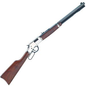 "Henry Big Boy Silver Lever Action Rifle .44 Mag 20"" Octagon Barrel 10 Rounds Silver Receiver Walnut Stock Blued H006S"