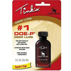 Tink's 1 Doe-P Deer Lure 1 oz Squirt Top Bottle W6249