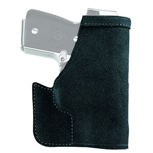 Galco Pocket Protector Holster Ruger LCP II Ambidextrous Center Cut Steer Hide Black