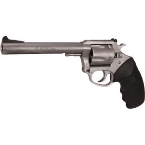 """Charter Arms Pitbull 9mm Luger Revolver 5 Rounds 6"""" Barrel Black Adjustable Rear Sight Rubber Grips Stainless Finish"""