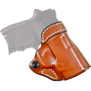 DeSantis Gunhide Criss-Cross SIG P938/ Kimber Micro9 OWB Cross Draw Belt Holster Right Handed Leather Tan