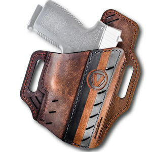 Versacarry Underground Premium Guardian Formula 1Holster Colt 1911 and Similar OWB Right Hand Water Buffalo Leather Distressed Brown and Black