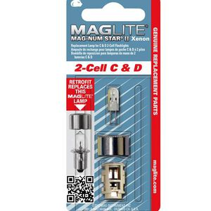 MagLite Magnum Star Xenon Light Bulb Upgrade for MagLite 2 Cell C and D Battery Operated Lights LMXA201