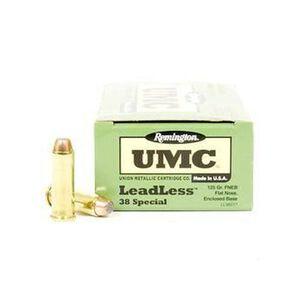 Remington .38 Special UMC Ammunition 50 Rounds FNEB 125 Grains