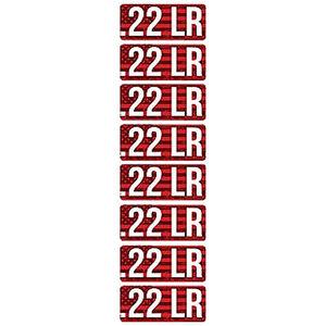 MTM Ammo Caliber Labels .22LR 8 Pack