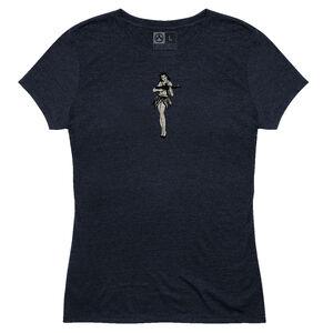 MagPul Women's Hula Girl Tri-Blend T-Shirt Extra 3XL Polyester/Cotton/Rayon Navy