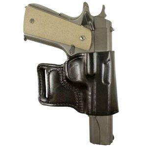 DeSantis E-GAT Belt Slide Holster 1911 Right Hand Leather Black 115BA85Z0