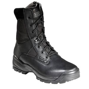 """5.11 Tactical A.T.A.C. 8"""" Side Zip Boots Leather Nylon 14 Regular Black 12001"""