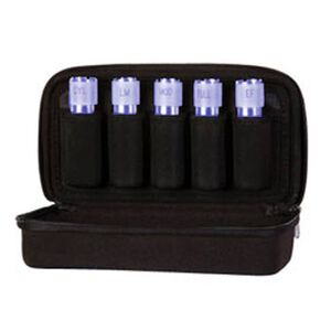 Carlson's Choke Tube Case 5 Tubes Nylon/EVA Foam Black 00400