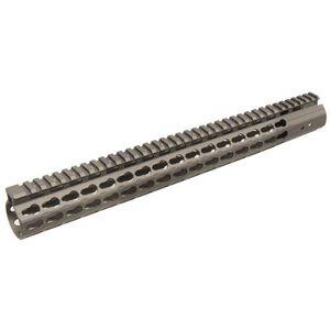 "Leapers UTG PRO AR-15 15"" Super Slim KeyMod Handguard Aluminum Cerakote Gunmetal Grey MTU019SSKM"