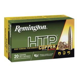 Remington HTP Copper 6.5 Creedmoor Ammunition 20 Rounds Lead Free TSX-BT 120 Grains HTP65CR
