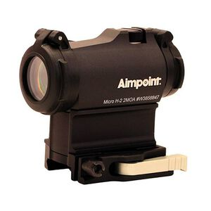Aimpoint Micro H-2 Red Dot Sight, 2 MOA, Lever-Release Picatinny/Weaver Mount/39mm Spacer