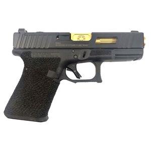 "Shadow Systems SG9C 9mm Luger Semi-Auto Handgun 4.01"" TiN Barrel No Magazine Stippled Frame Optics Ready Window Cut Slide Black"