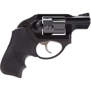 "Ruger LCR .38 Special +P Revolver 1.87"" Barrel 5 Rounds Hogue Grip Aluminum Frame Black"