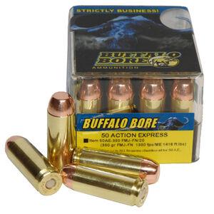 Buffalo Bore .50 AE Ammunition 20 Rounds FMJ-FN 350 Grains
