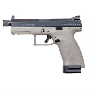 "CZ P-10 C Urban Grey Suppressor-Ready 9mm Luger Semi Auto Pistol 4.61"" Threaded Barrel 10 Rounds Night Sights Polymer Frame Black/Grey Two Tone Finish"
