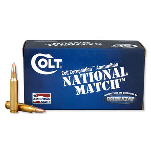 Colt Ammunition National Match .223 Rem Ammunition 50 Rounds 62 Grain FMJ 2950 fps