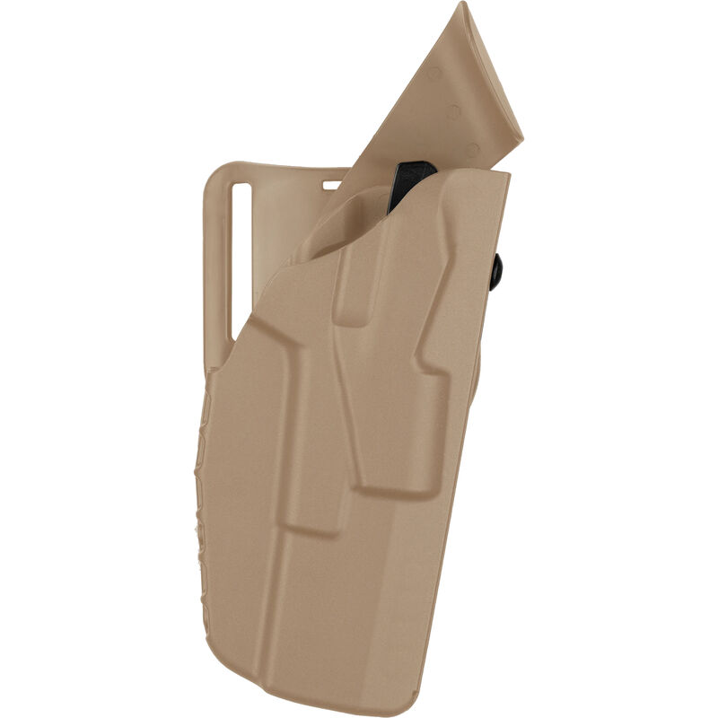 Safariland 7390 7TS ALS Duty Belt Holster Fits GLOCK 17/22 with TLR-1 or Similar Lights Right Hand LVL I Mid-Ride SafariSeven Plain FDE Brown