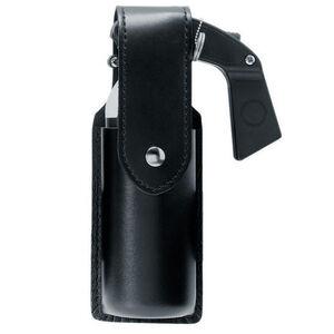 Safariland Model 38 OC/Mace Spray Holder 2 oz Brass Snap Basketweave Black