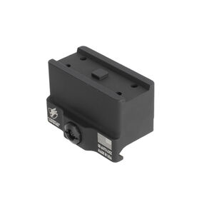 American Defense Mfg. Absolute Co-Witness Base Mount Fits Aimpoint Micro T1 Compatible Optics to Picatinny Rail With Quick Release Titanium Lever Black Finish AD-T1-10-TL