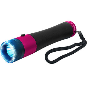 Guard Dog Ivy with Stun Gun 200 Lumens Cree LED Aluminum Black with Pink Accents