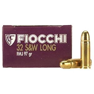 Fiocchi Shooting Dynamics .32 S&W Long Ammunition 50 Rounds FMJ 97 Grains 32SWLA