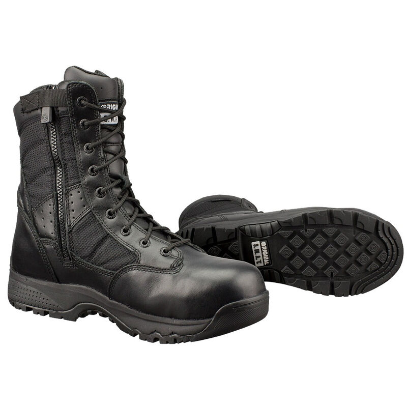 "Original S.W.A.T. Metro Safety Boots 9"" Waterproof Side Zip Leather/Nylon Rubber Size 7 Regular Black 129101-07.0/EU39"