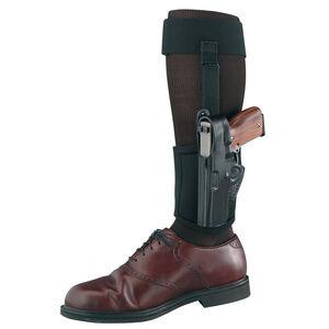 Gould & Goodrich GLOCK 26, 27, 33 Ankle Holster Plus Garter Left Hand  Leather/Neoprene Black B816-G27LH