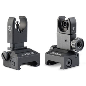 Ultradyne AR-15 C4 Front and Rear Sight Combo Same Plane Nitride Black