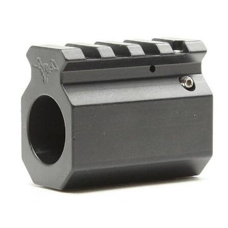 "DoubleStar AR-15 Adjustable Picatinny Rail Gas Block .750"" Diameter Aluminum Black DSC765"